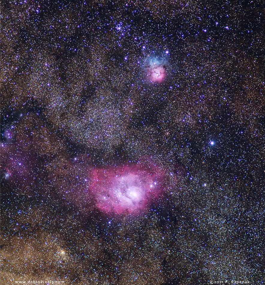 lagoon trifid nebula - photo #5