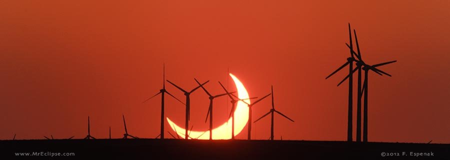 Annular Eclipse at Sunset