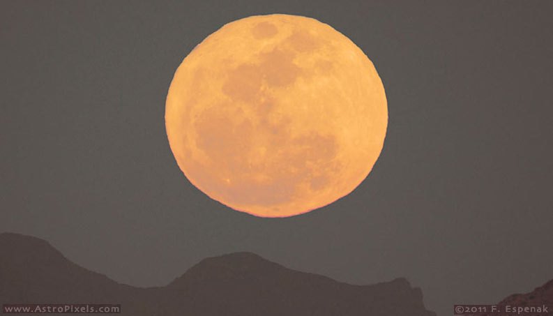 Super Moon Rise Over the Peloncillo Mtns - 2
