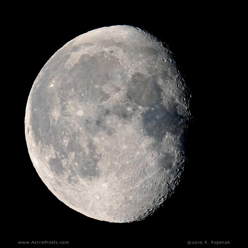 Gibbous Moon - 17.6 days Waning Gibbous Moon Phase