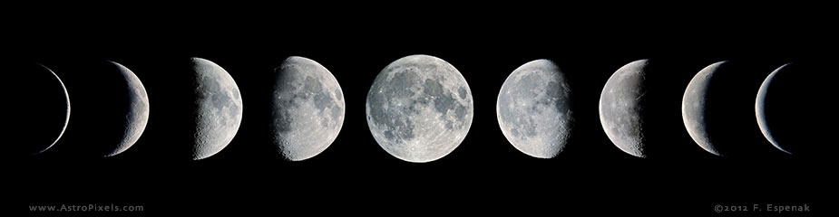 Moon Phases Mosaic - 9x - 1