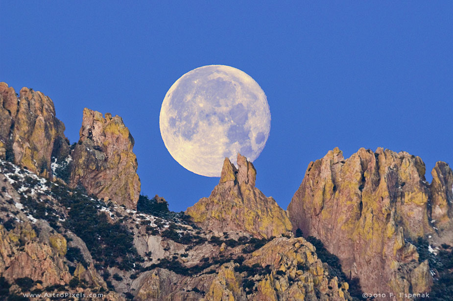 Moonset Over Chiricahua Mountains