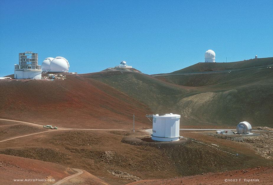 Summit View of Mauna Kea Observatory